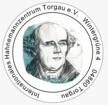 Logo des Hahnemannzentrums mit Adresse