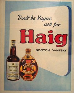 Vintage Haig Advertising - Haig Club