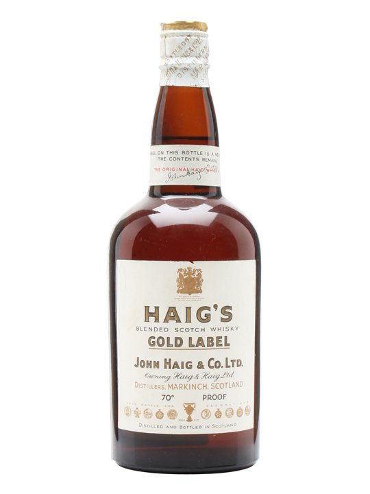 Haig's Gold Label / Bot.1940s / Spring Cap Blended Scotch Whisky