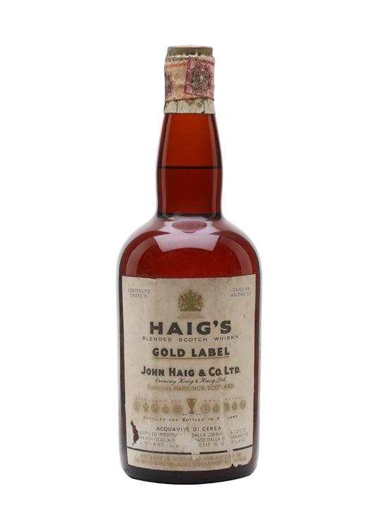 Haig's Gold Label / Bot.1950s Blended Scotch Whisky