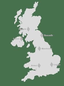Hair Loss Studio Locations Map