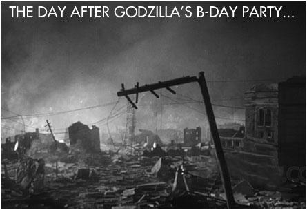 Happy Birthday Godzilla Drinkin Drive In