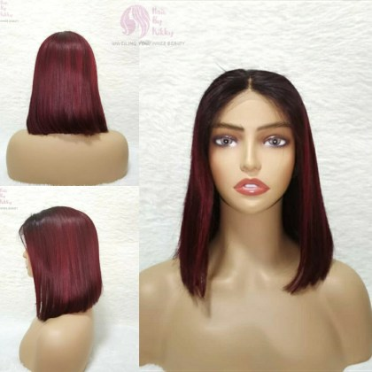 Hairbykikky Colored Human Hair Wig