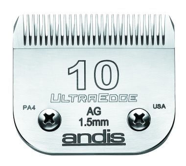 Andis UltraEdge dog grooming blade size 10 is a standard.