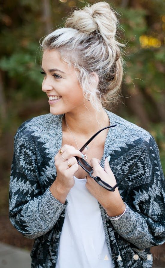 Long Hairstyles For Women Top Knot