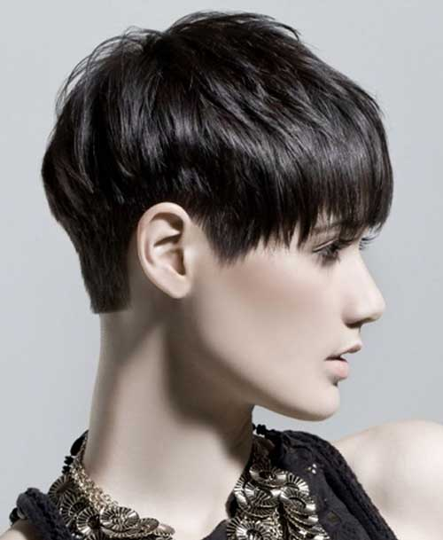 Dark Short Hairstyles For Women