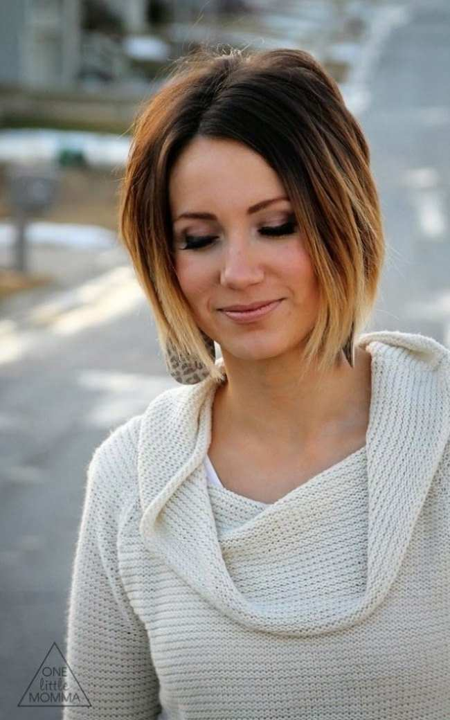 Ombre Short Hairstyles For Women