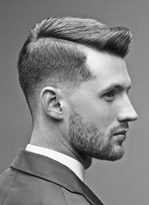 Side Part Pompadour Hairstyle