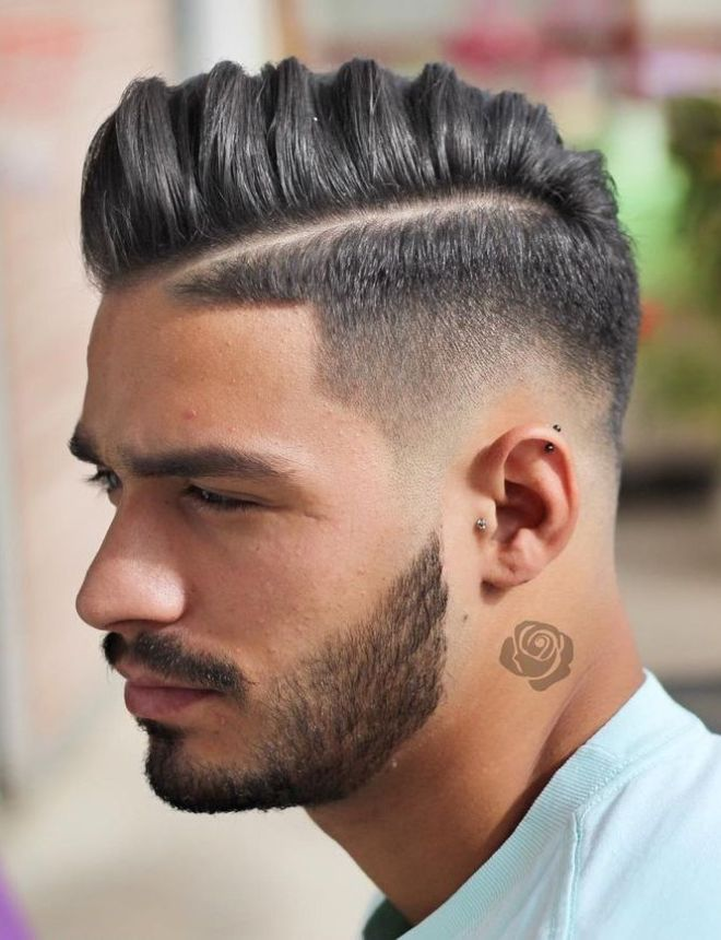 Hard Side Parting Hipster Haircut