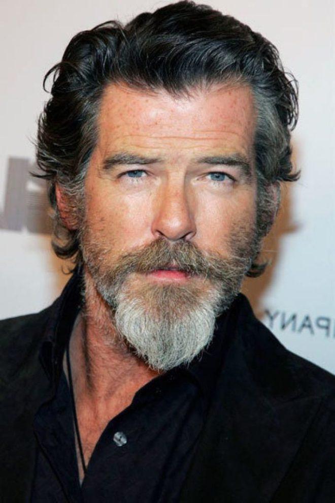 Mens Long Hairstyle With Van Dyke Beard