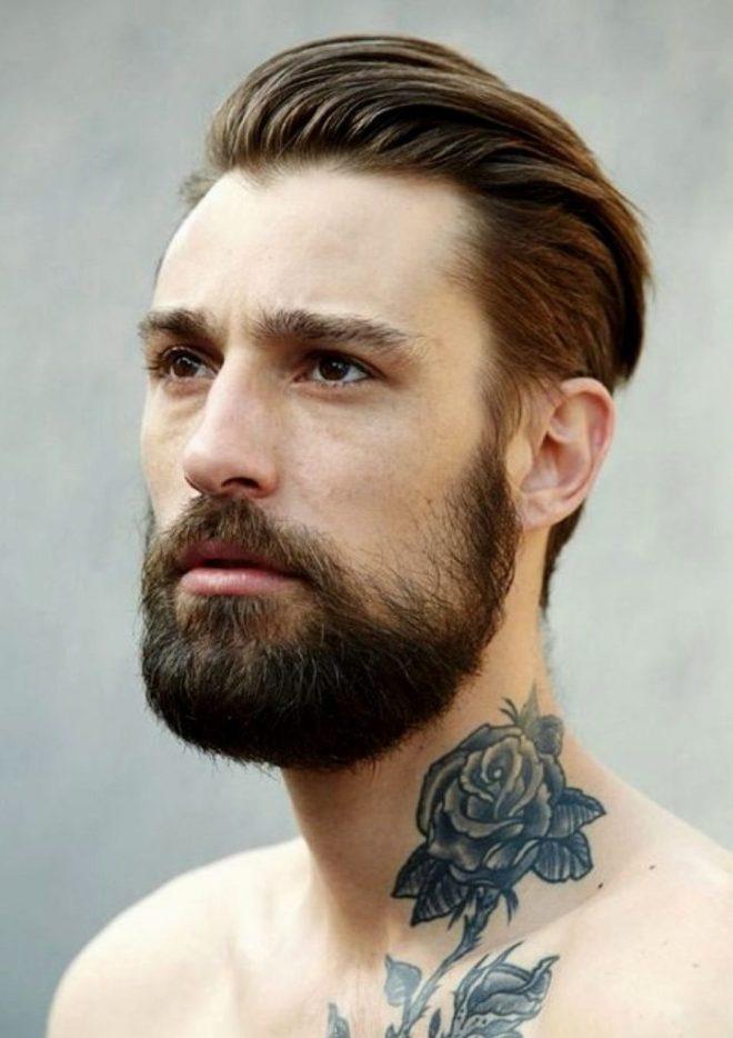 Medium Haircut with Long Beard