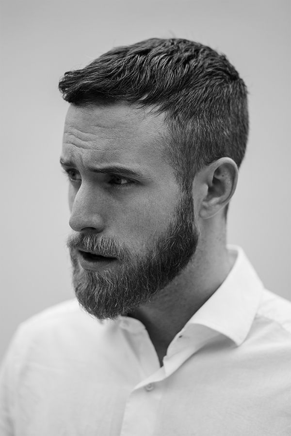Mens Short Hairstyle with Beard