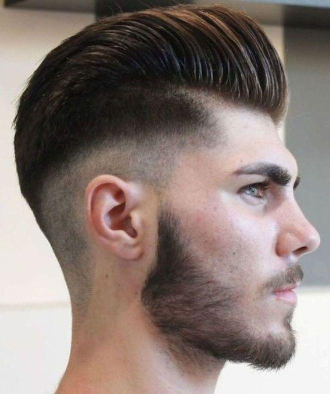 Skin Fade Slick Back Haircut