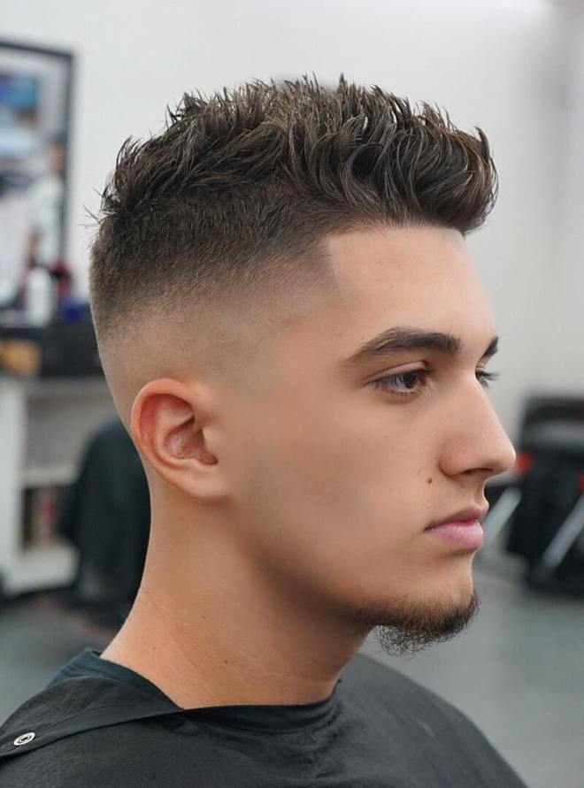 Spiky Haircuts With Side Fade