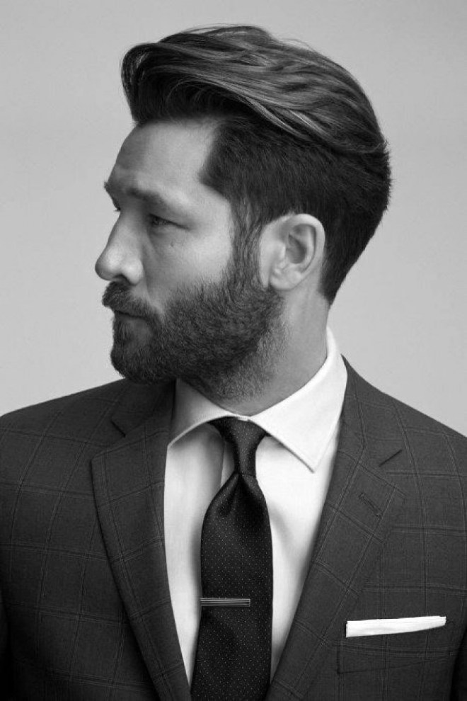 Undercut Medium Hairstyle With Thick Hair