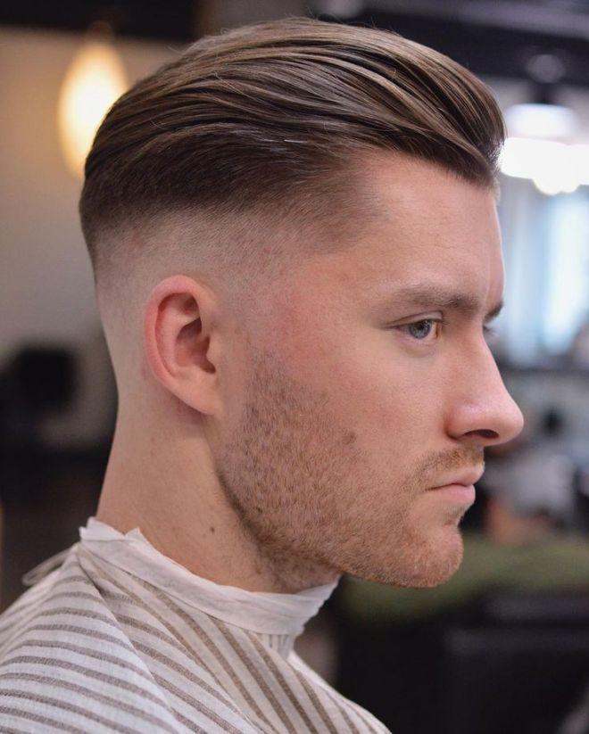Slick Back Receding Hairline Hairstyle