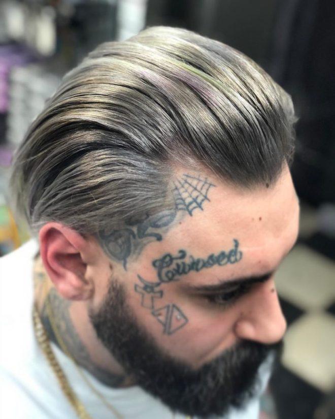 Dark Platinum Hair
