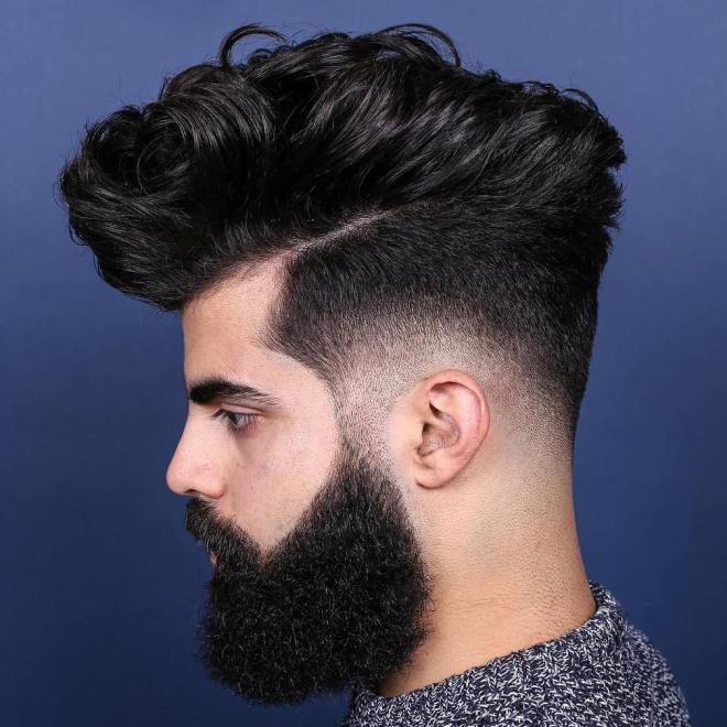 Fade with Thick Hair