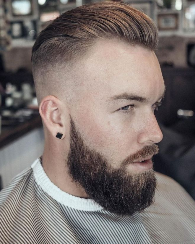 Fade with Slick Back Hairstyle