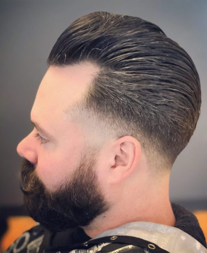 Receding Hairline Comb Over Haircut
