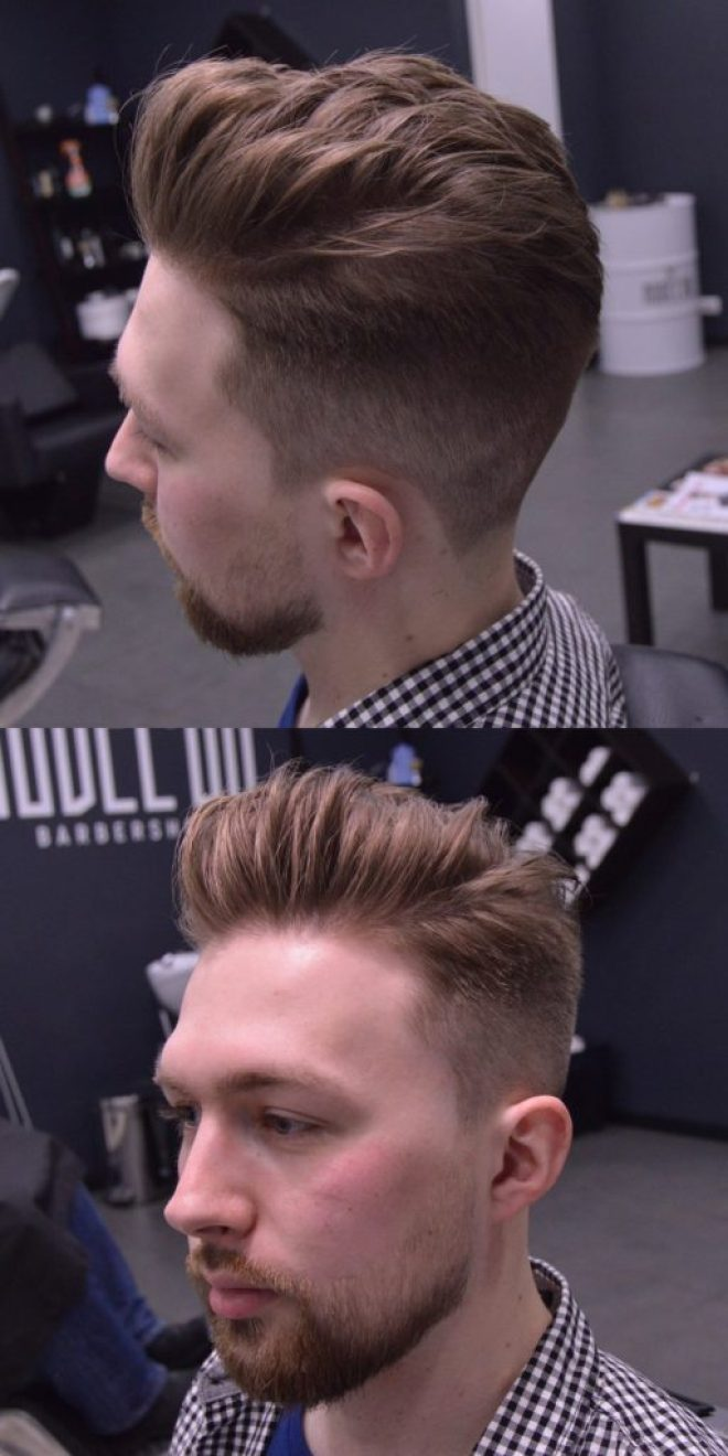 Slick Back Quiff Hairstyle