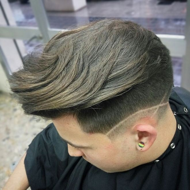 Voluminous Hair With Blurry Fade
