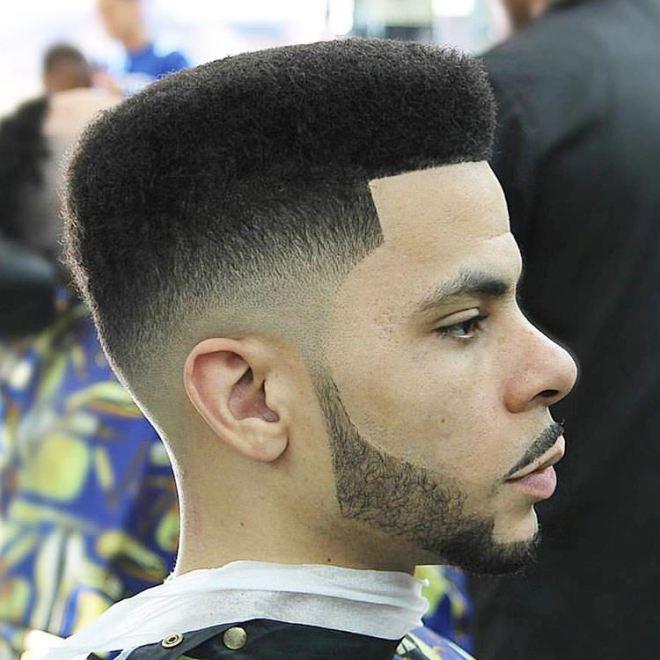 Box Fade Comb Over Haircut