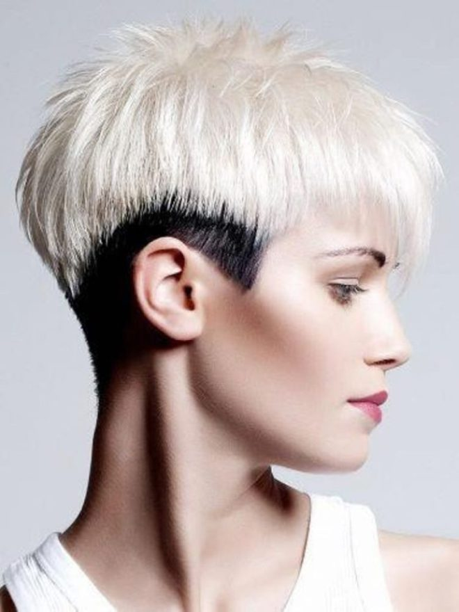 Two Toned Undercut Short Hair