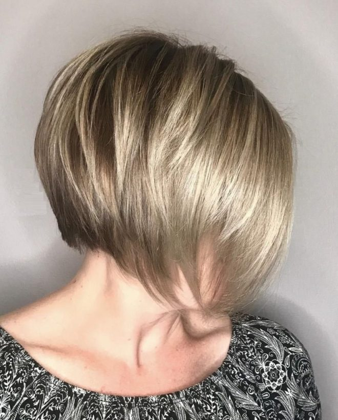 Stack Inverted Bob Short Hairstyle