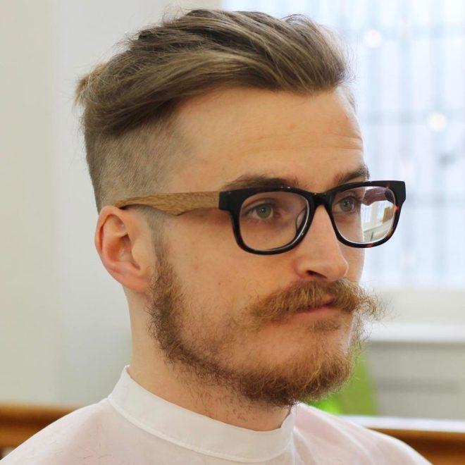 Drop Fade Swept Back Haircut