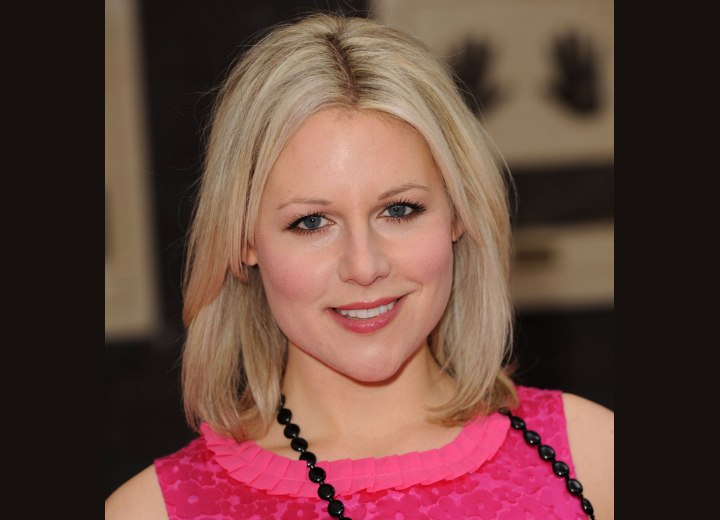 Abi Titmuss Long Bob With A Side Partition That Flatters