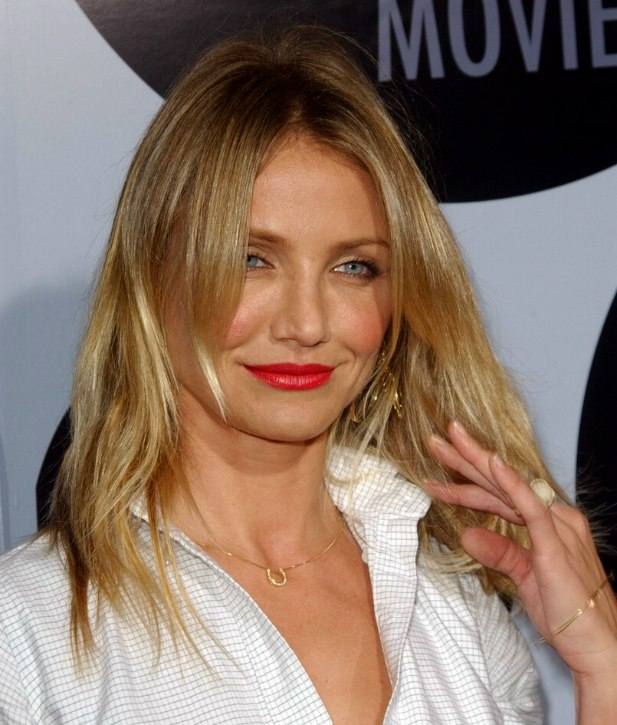 Cameron Diaz Wearing Her Long Hair Natural And Styled Open
