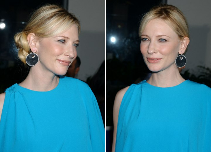 Cate Blanchett With Her Hair Styled Smoothly Back In A