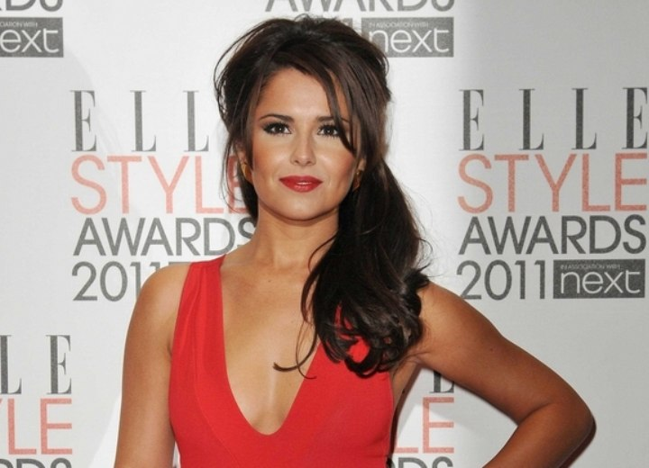 Cheryl Cole Long Hair With Height On The Top And Falling