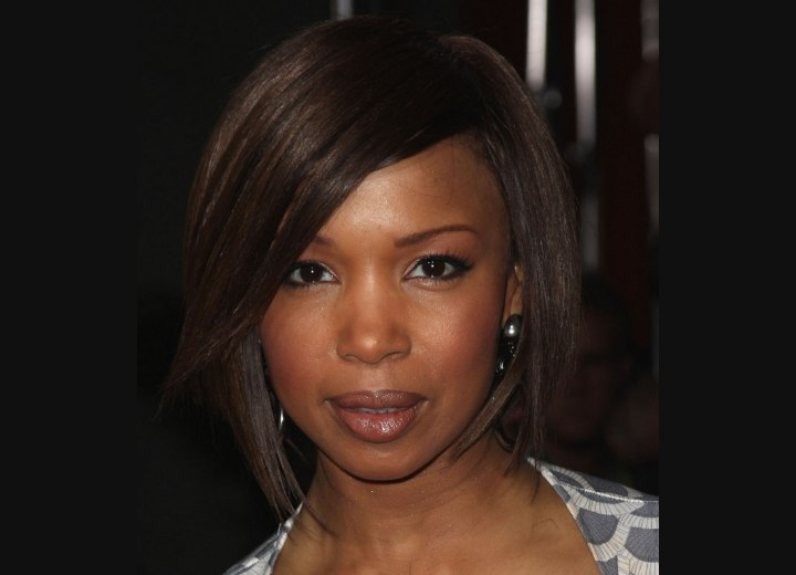 Elise Neal Collar Length Bob Hairstyle With Slithered