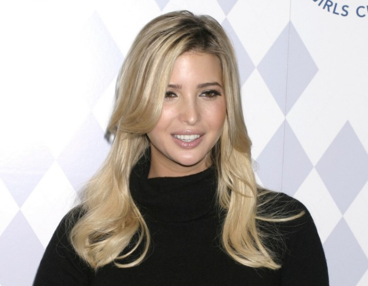 Ivanka Trump With Long Hair That Falls Freely And Wearing