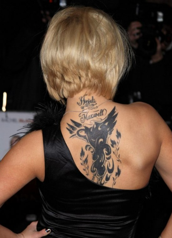 Kerry Katonas Tattoo And Her Below The Chin Bob With A