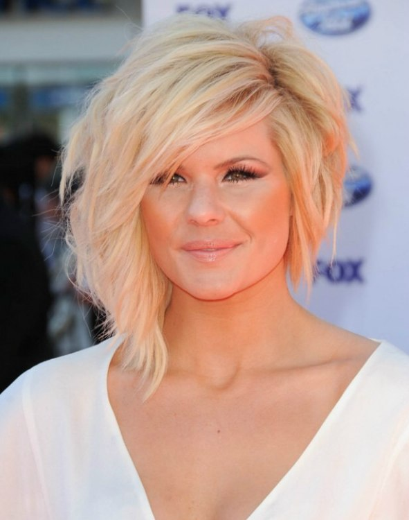 Kimberly Caldwell Wearing Her Hair Cut In A Medium Long