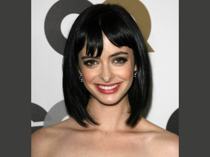 Krysten Ritter With Her Hair In A Cleopatra Bob That