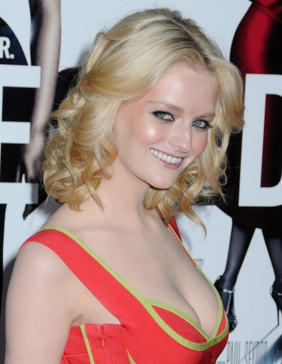 Lydia Hearst Medium Long Away From The Face Hairstyle