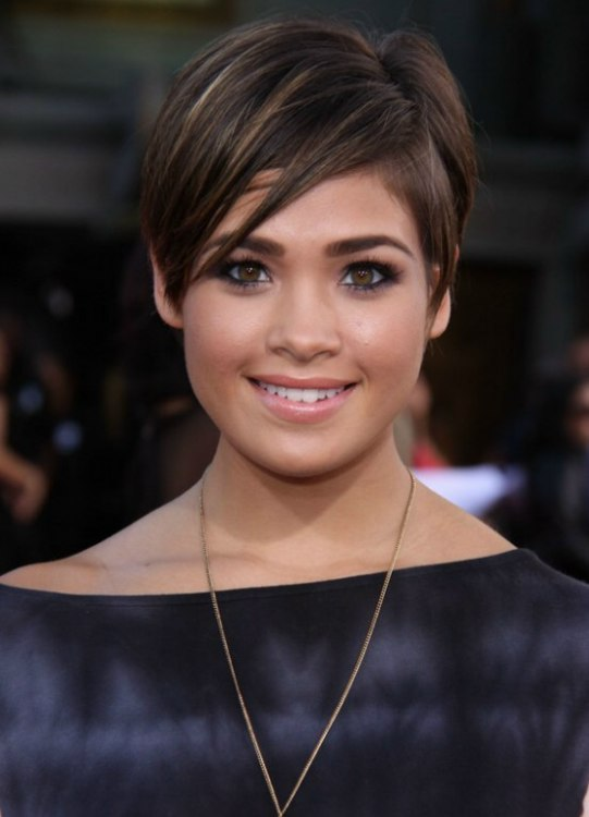 Nicole Anderson Modern Short Pixie Hairstyle With Bangs