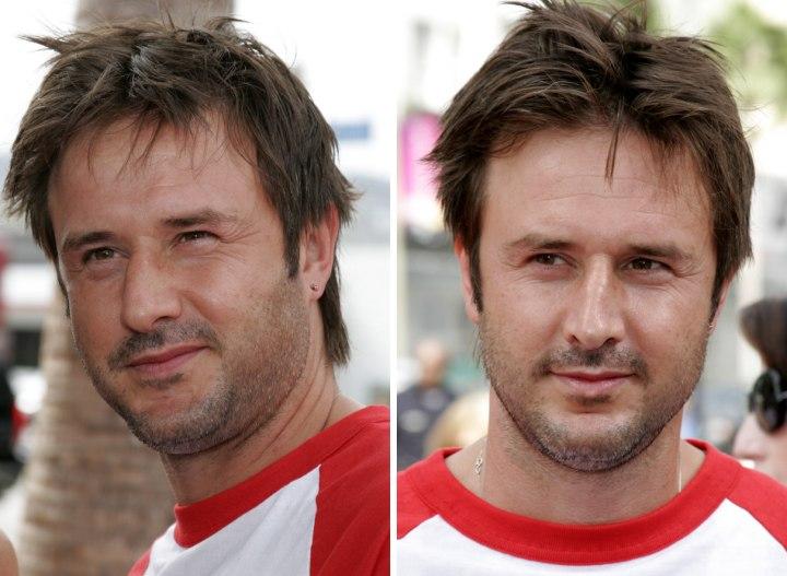 David Arquette Sporting A Mens Razor Cut Hairstyle