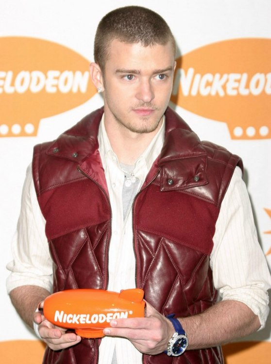 Justin Timberlake Sporting A Clipper Cut Buzz Hairstyle