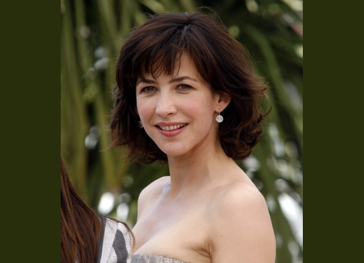 Sophie Marceaus Haircut With Layers Flipping Up And
