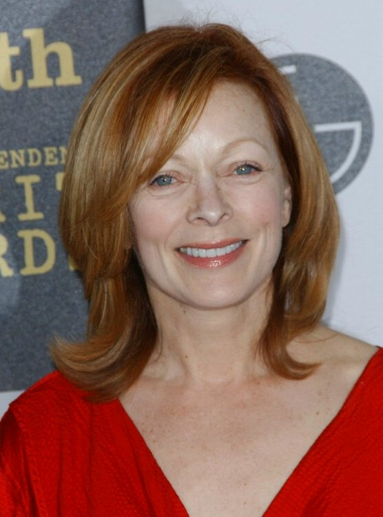 Frances Fisher Shoulder Length Hairstyle With Side Bangs