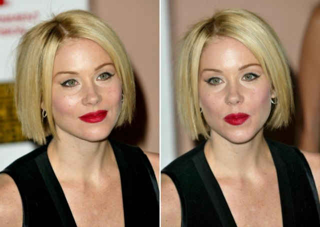 christina applegate wearing her hair in a classic bob at