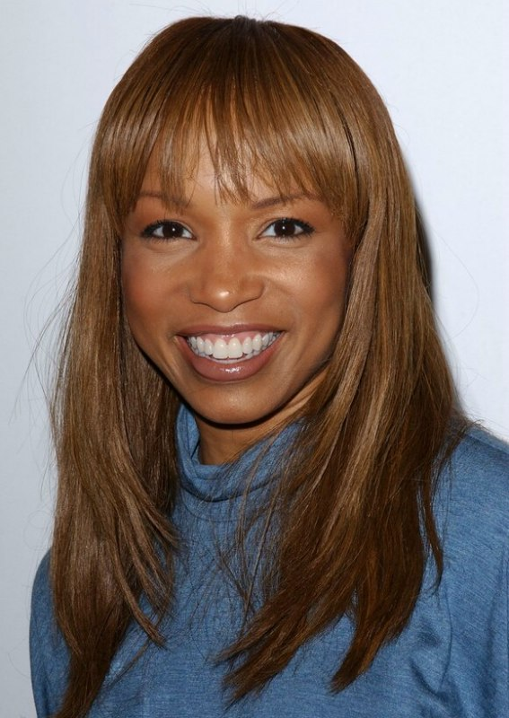 Elise Neal Simple Fix Hairstyle With Layers For Very