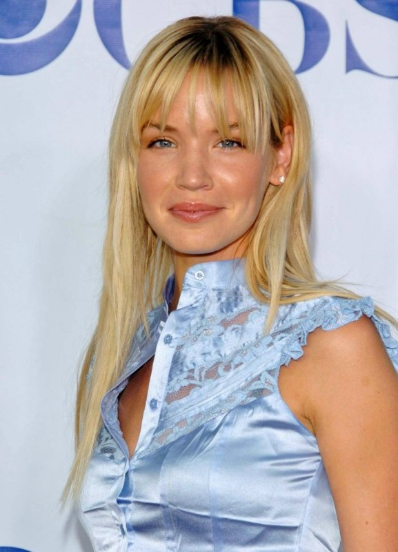 Ashley Scott Sleek Long Hair With Thick Pieced Out Bangs
