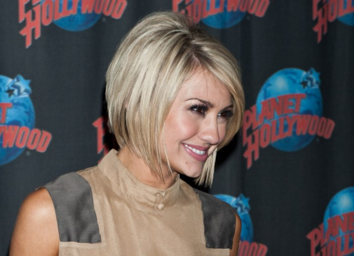 Chelsea Kane Past The Jaw Line Bob Haircut With Layers
