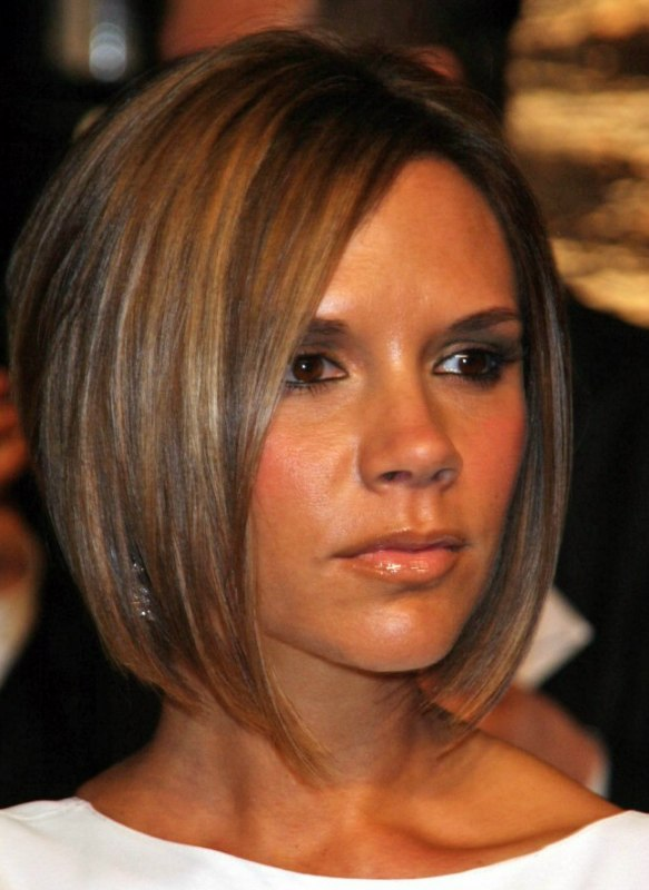 Victoria Beckham Longer In The Front Bob With A Stacked Nape